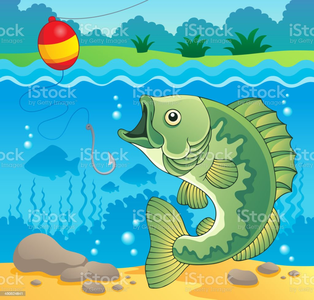 Freshwater fish theme image 4 royalty-free stock vector art