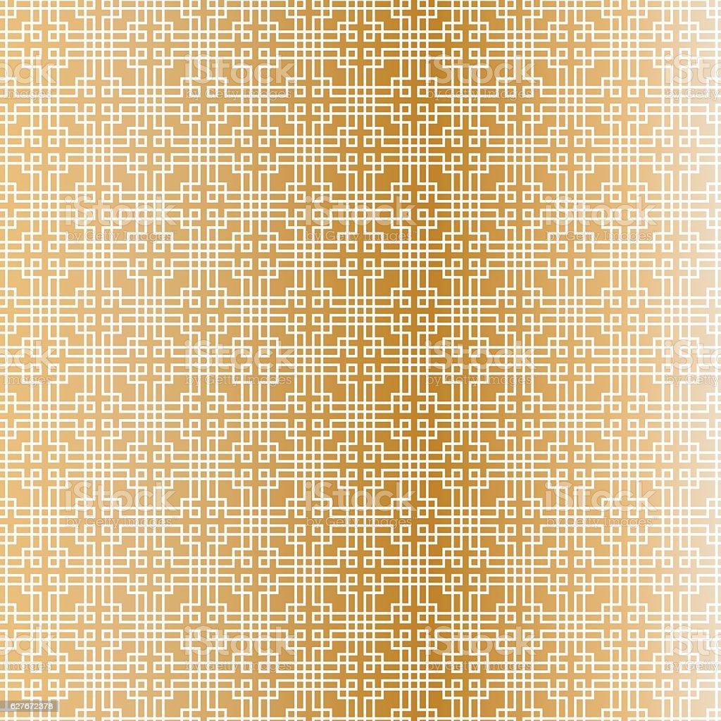 fret pattern on copper vector art illustration