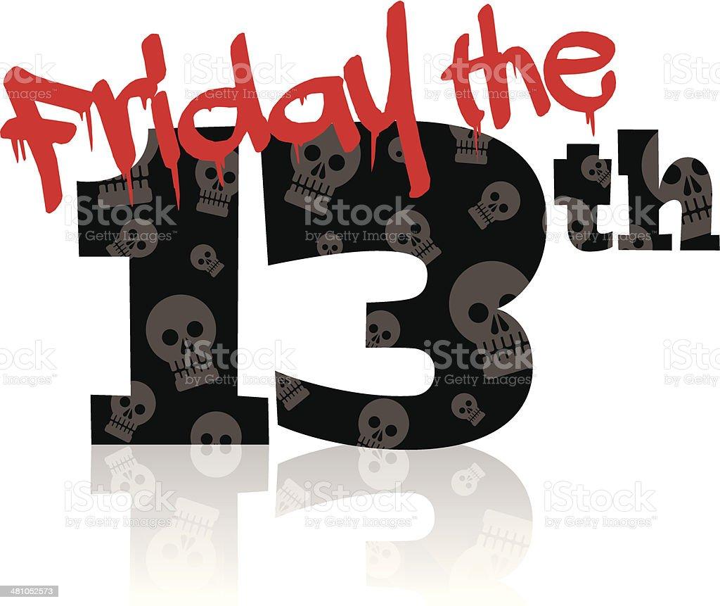 Friday13th Heading vector art illustration