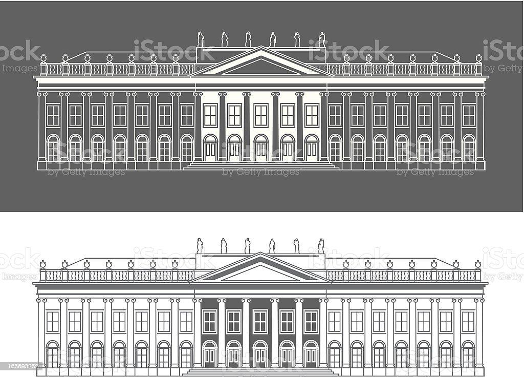 Fridericianum royalty-free stock vector art