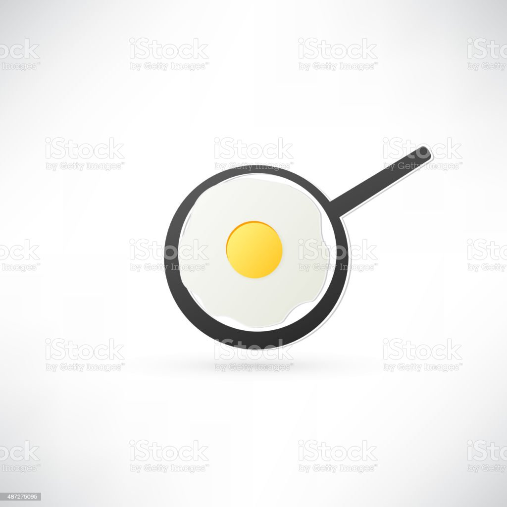 Fried Egg Icon royalty-free stock vector art