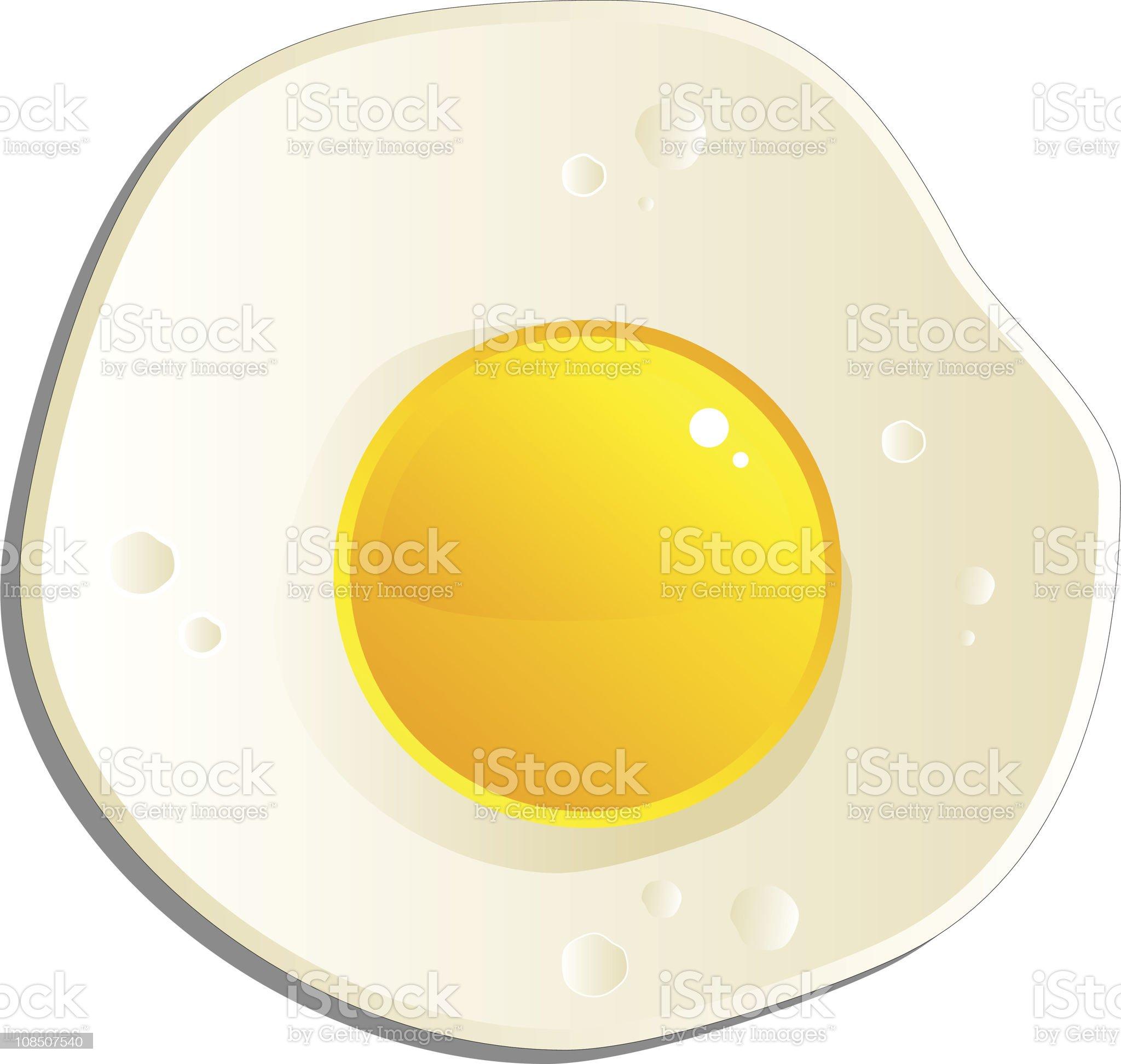 Fried egg royalty-free stock vector art