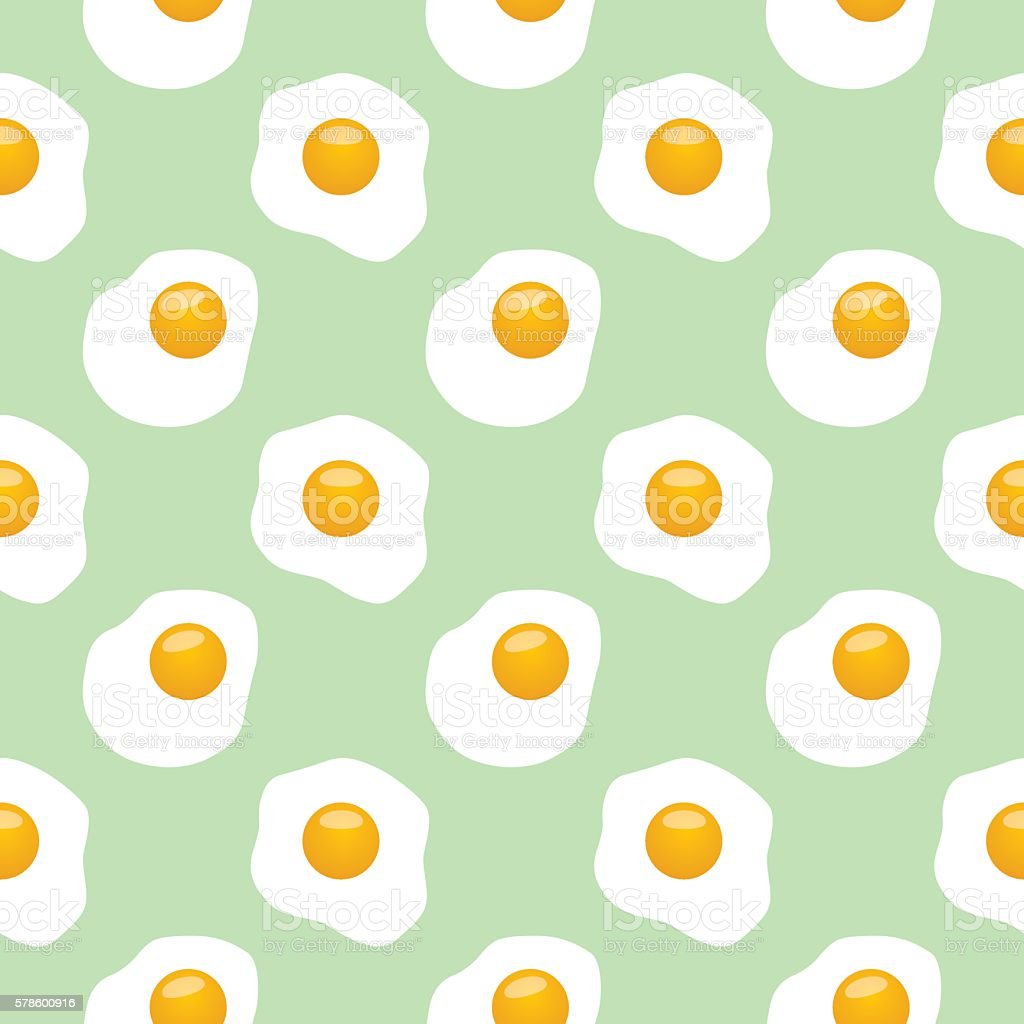 Fried Eggs Pattern vector art illustration