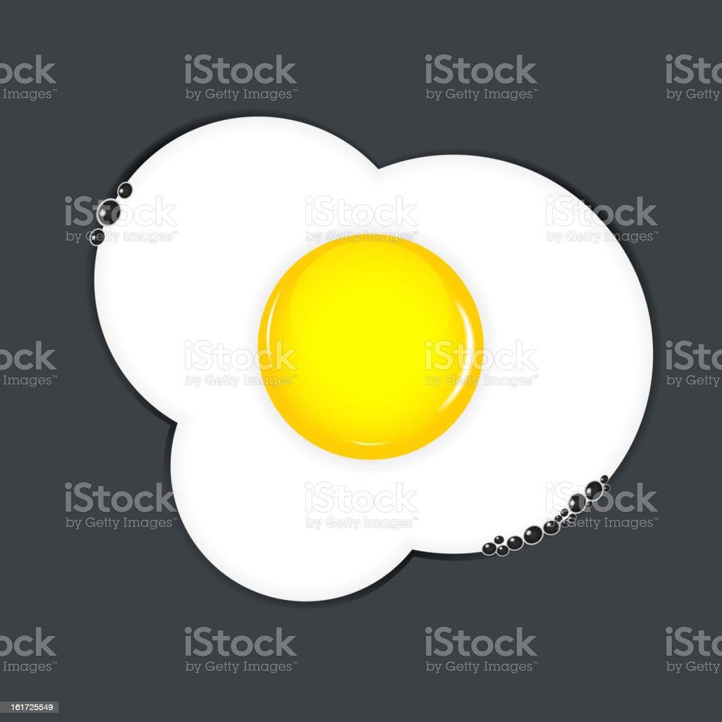 Fried eggs vector illustration royalty-free stock vector art