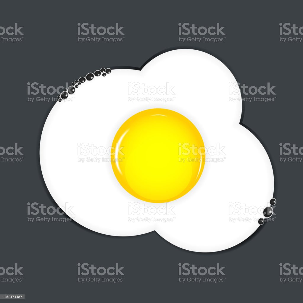 Fried eggs vector illustration royalty-free stock vector art