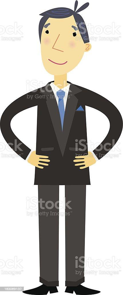 Friendly Businessman royalty-free stock vector art