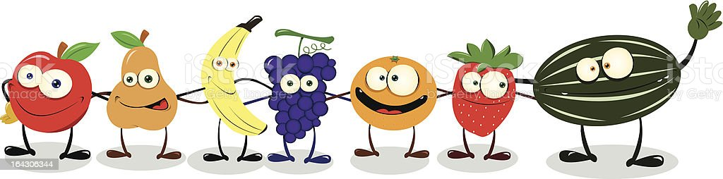 Friendly Fruit royalty-free stock vector art
