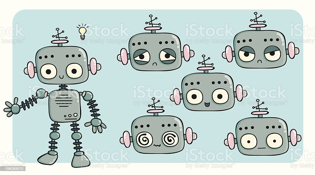Friendly robot royalty-free stock vector art