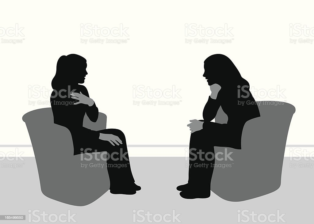 Friendly Talk Vector Silhouette vector art illustration