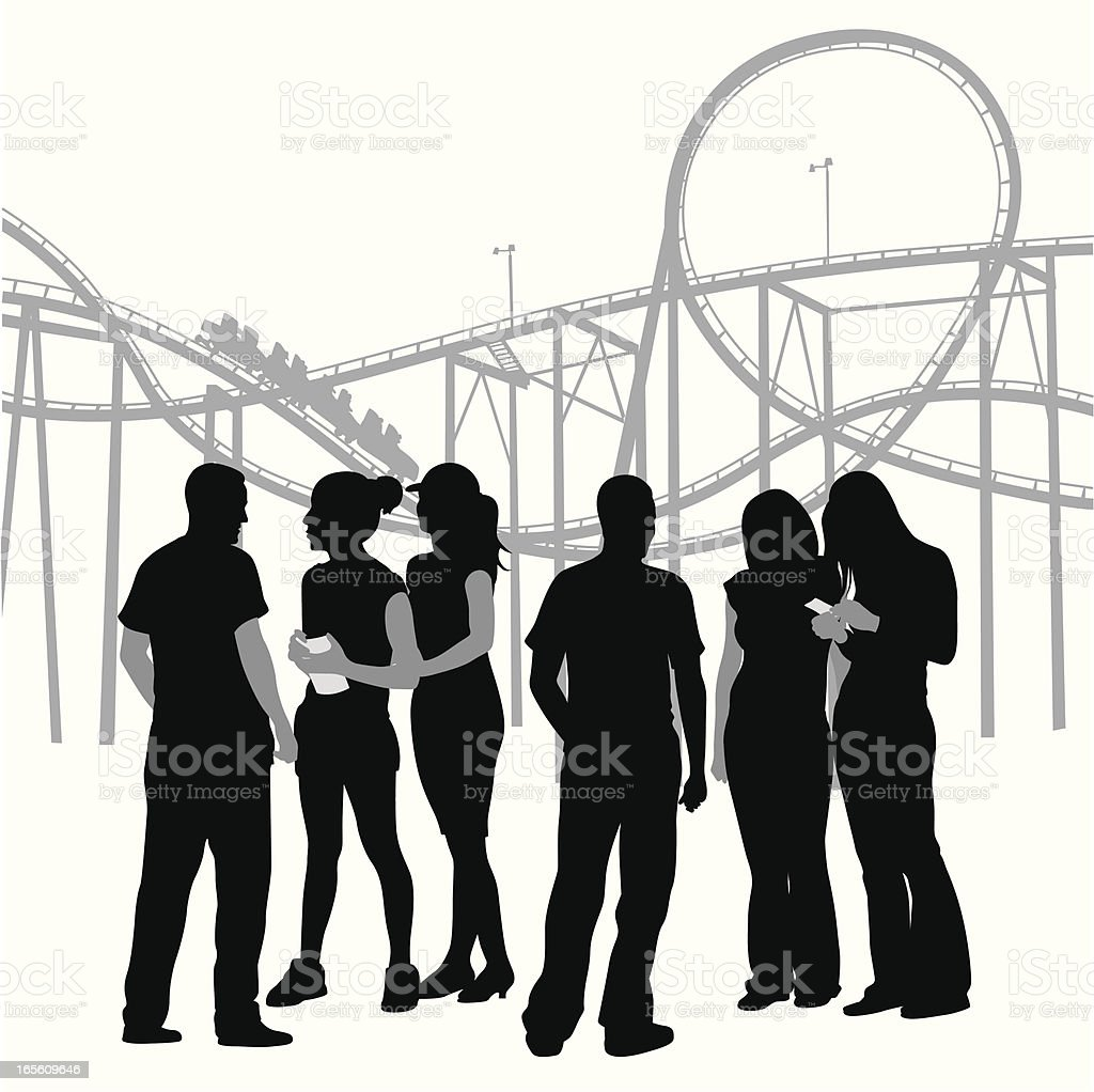 Friends At The Fair Vector Silhouette royalty-free stock vector art