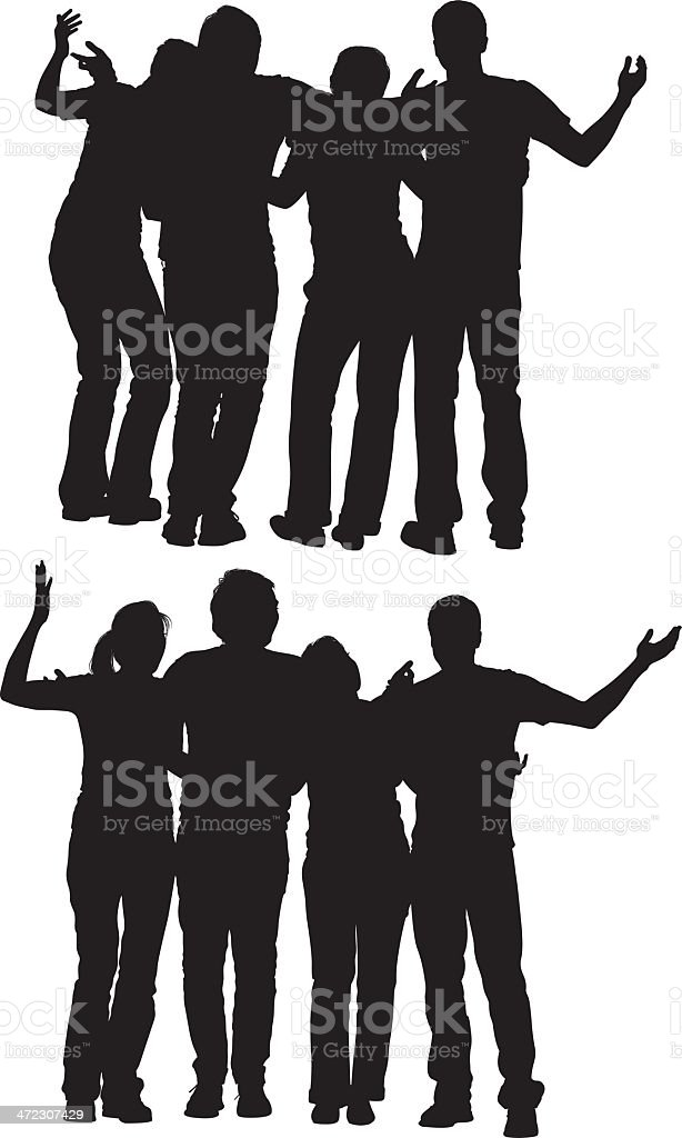 Friends enjoying good time together royalty-free stock vector art