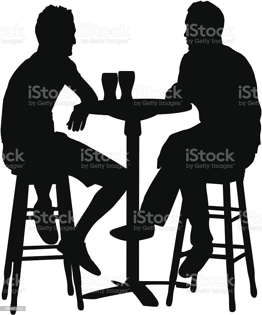 Friends Having Drinks vector art illustration