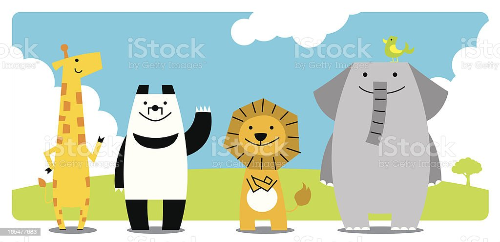 friends of a prairie royalty-free stock vector art