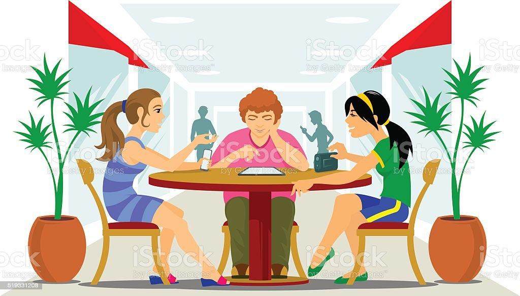 Friends vector art illustration