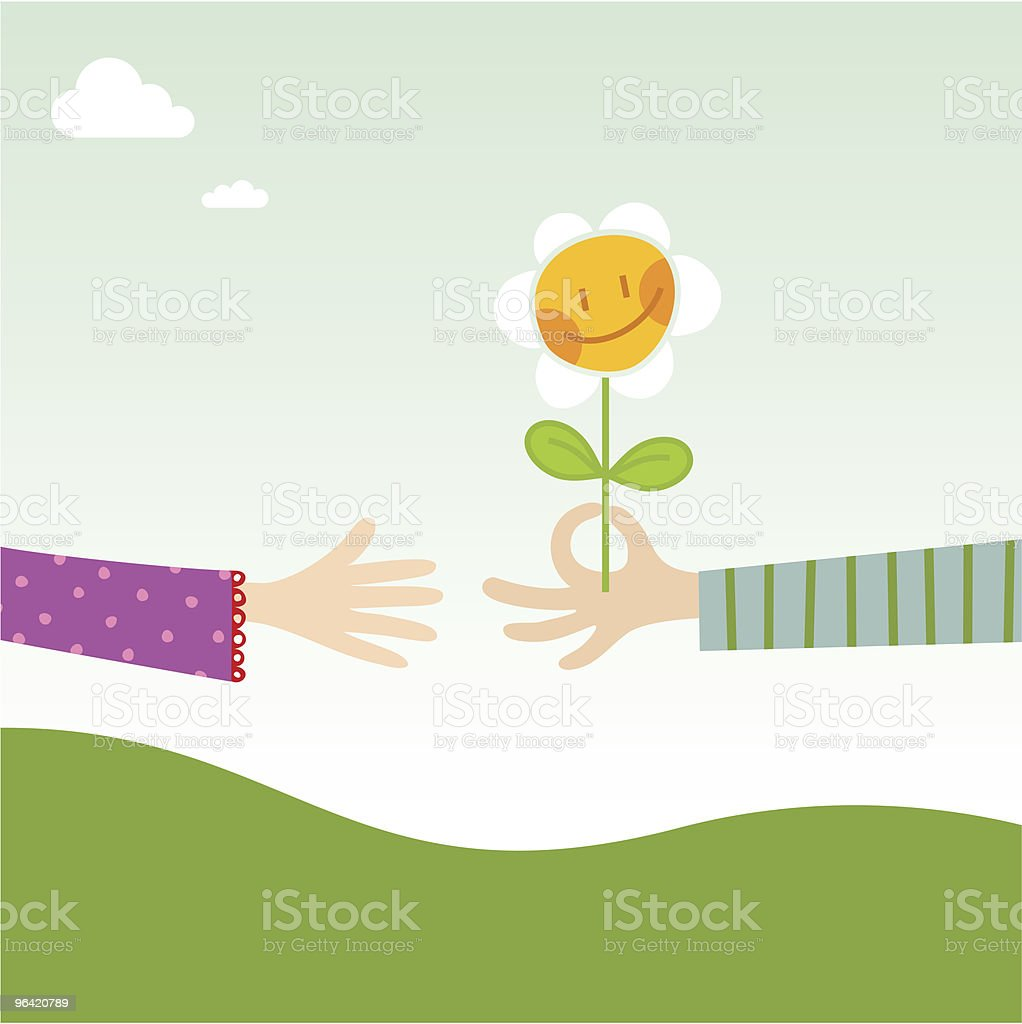 Friends (nature series) vector art illustration
