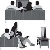 Friends watching television