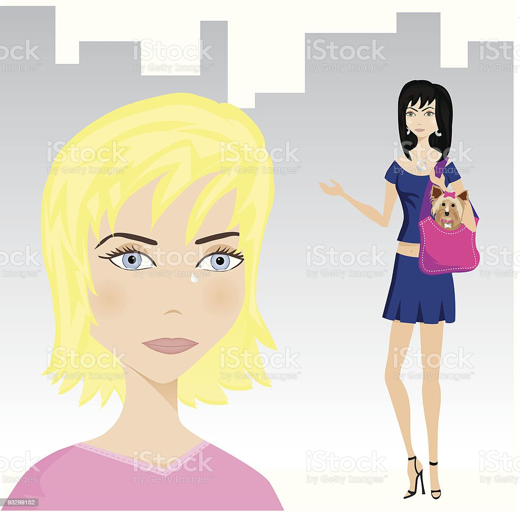 Friendship: Quarrel vector art illustration