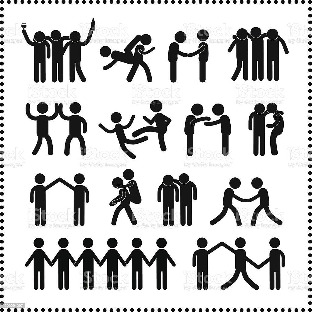 friendship symbol vector art illustration