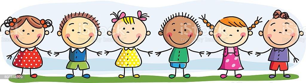 Friendship-Illustrations vector art illustration