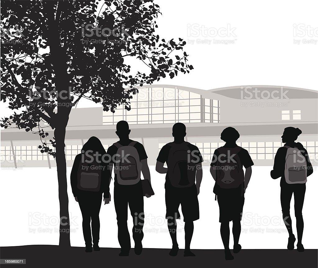 Friends'n Students Vector Silhouette vector art illustration