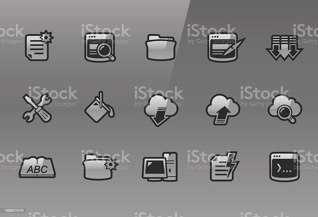 Frigate – Developer icons royalty-free stock vector art