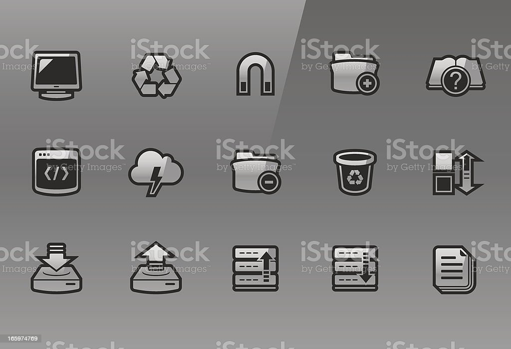 Frigate – Implementator icons royalty-free stock vector art