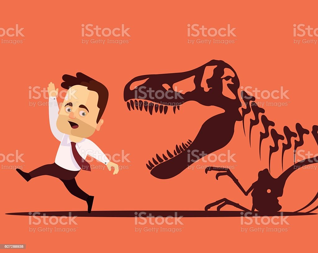 Frightened man character. Vector flat cartoon illustration vector art illustration