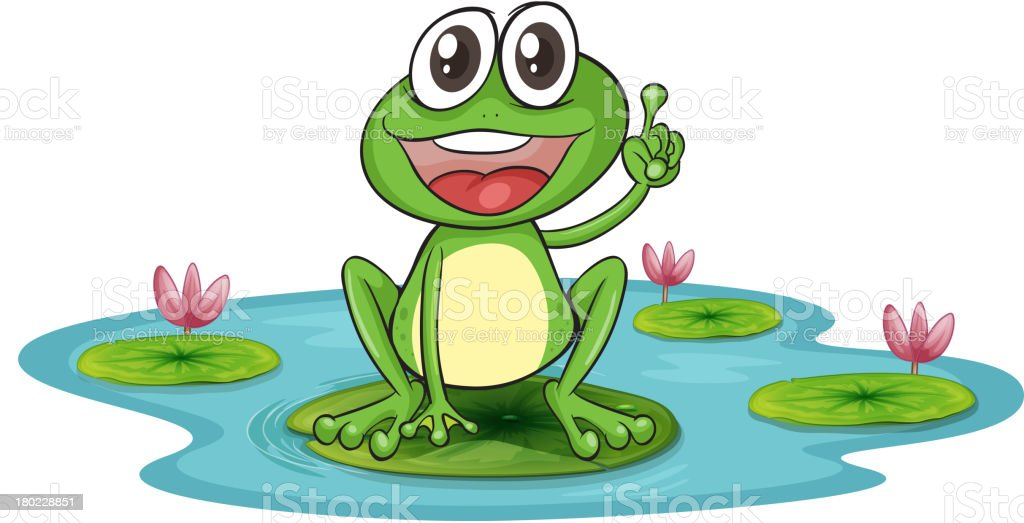 frog and a water royalty-free stock vector art