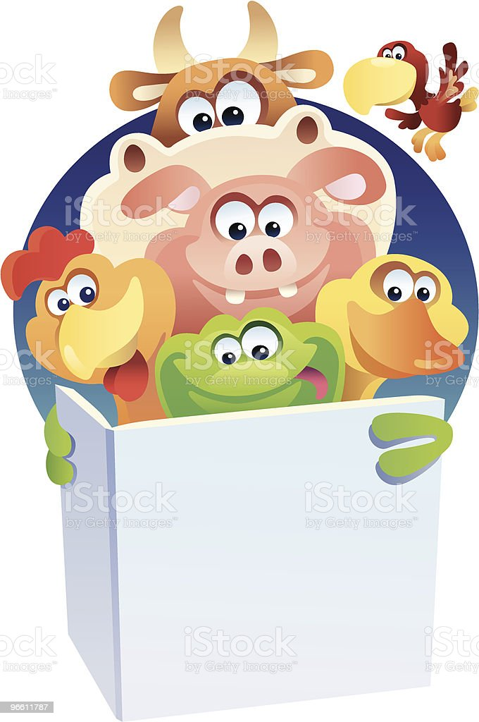 frog and friends royalty-free stock vector art