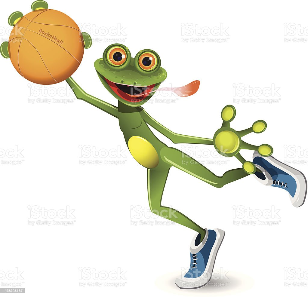 frog basketball royalty-free stock vector art