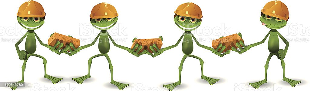 frog builders royalty-free stock vector art
