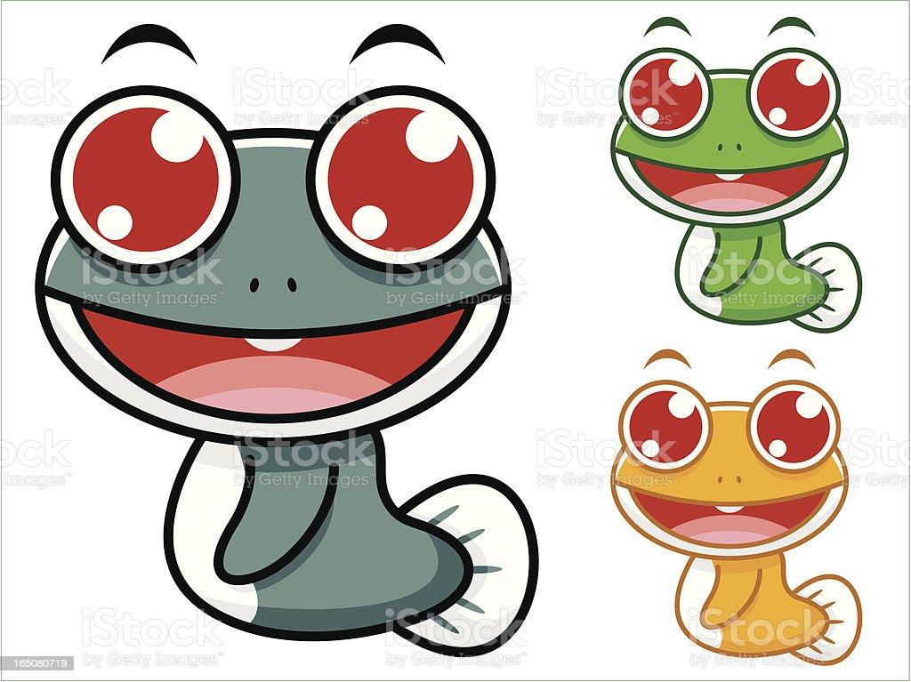Frog Cartoon royalty-free stock vector art