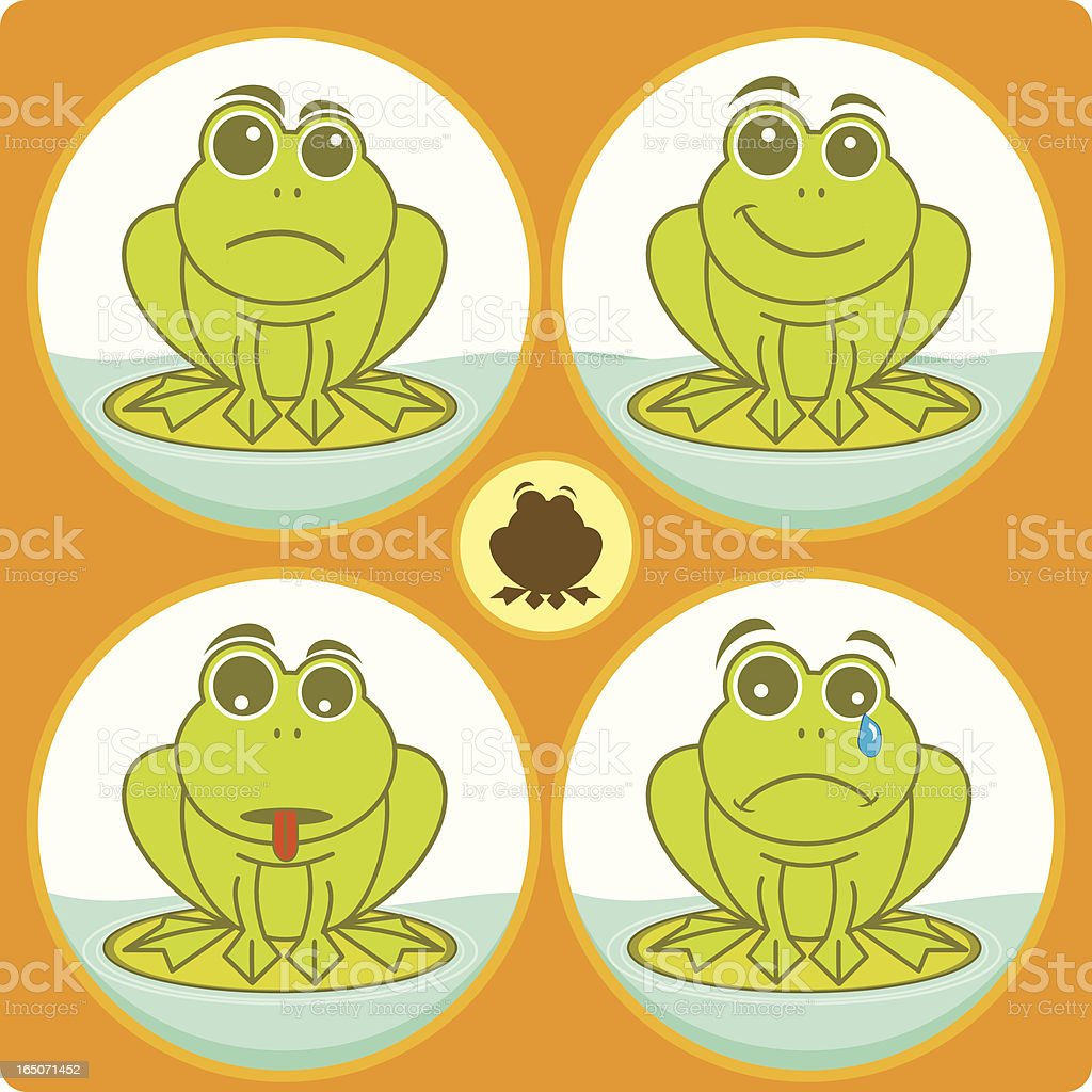 Frog character royalty-free stock vector art
