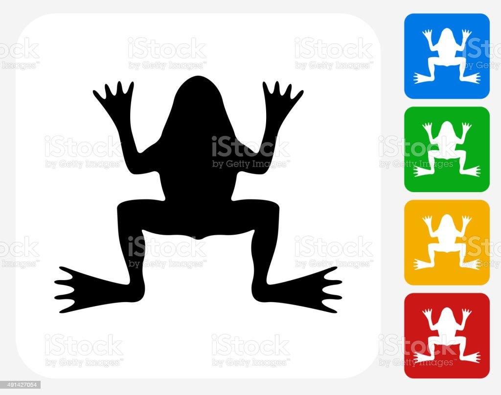 Frog Icon Flat Graphic Design vector art illustration