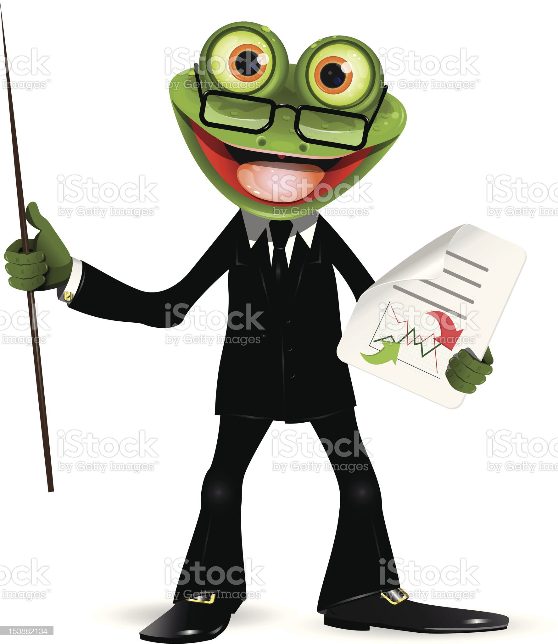 Frog in a suit royalty-free stock vector art