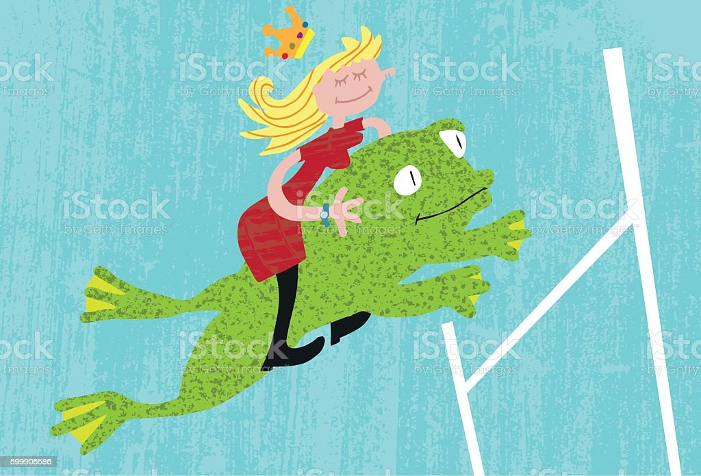 Frog Leap to Success vector art illustration