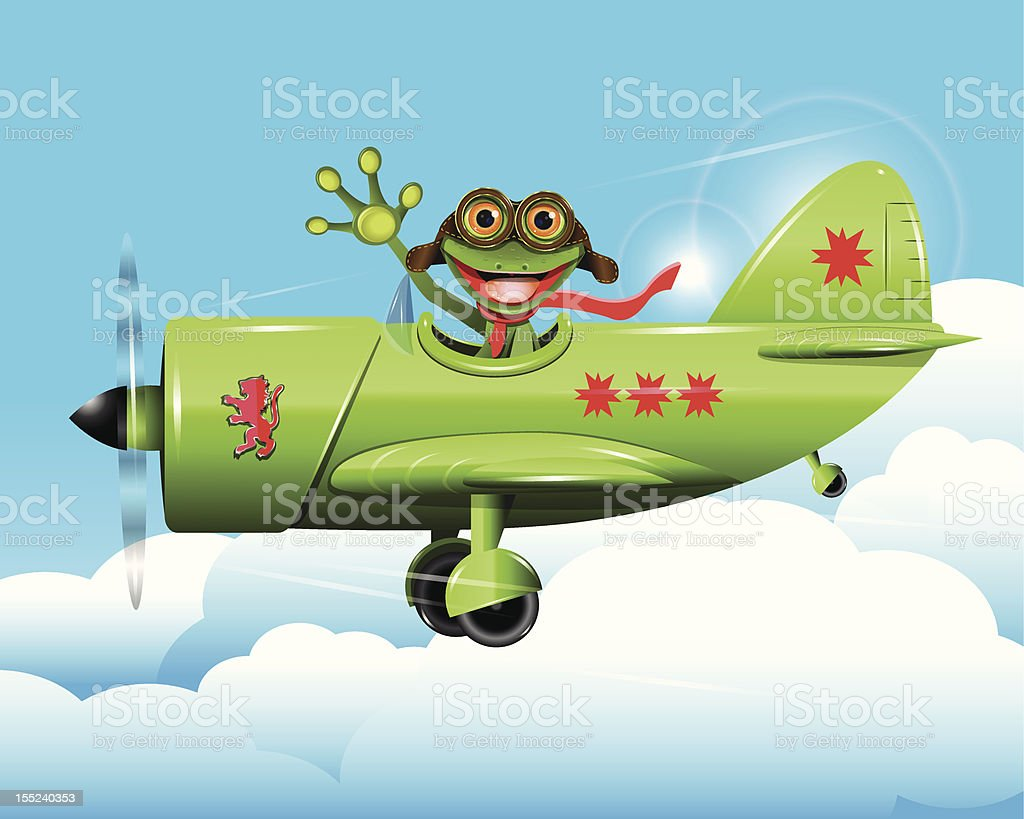 frog pilot royalty-free stock vector art