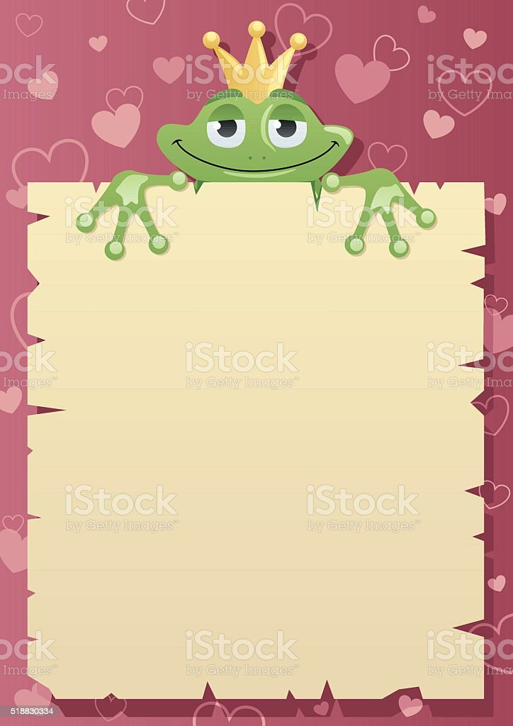 Frog Prince Letter vector art illustration