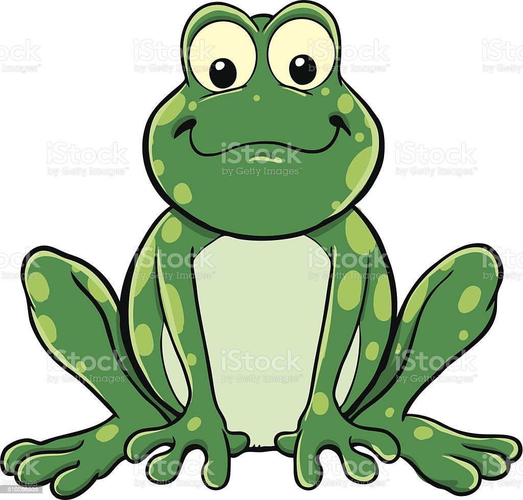 Frog vector art illustration