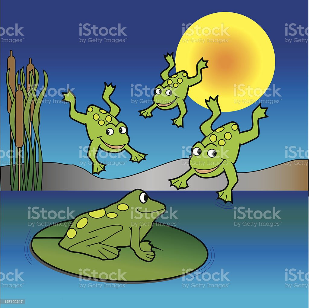 Froggie Party royalty-free stock vector art