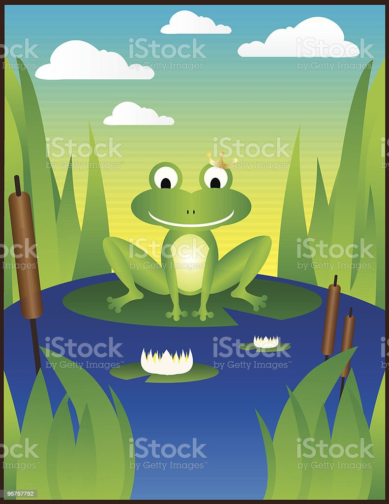 Froggy royalty-free stock vector art