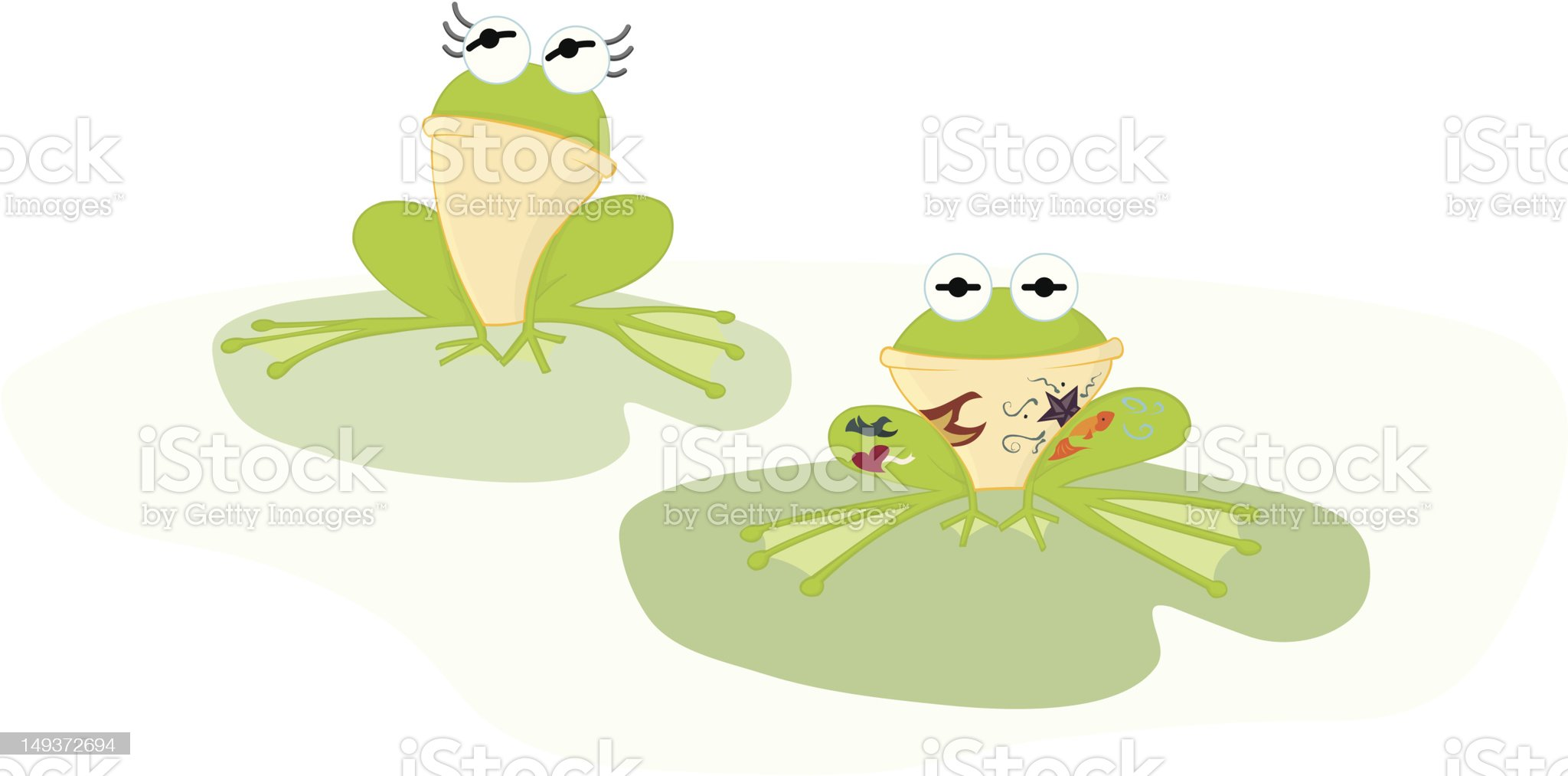 frogs with cultural differences royalty-free stock vector art