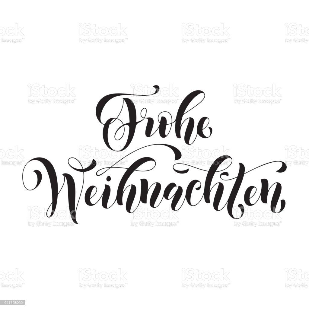 Frohe Weihnachten german Christmas greeting card vector art illustration