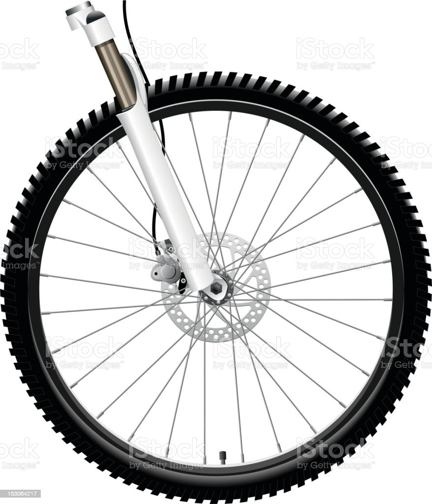Front Bicycle Wheel vector art illustration