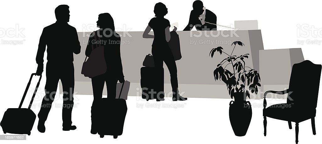 Front Desk Vector Silhouette royalty-free stock vector art