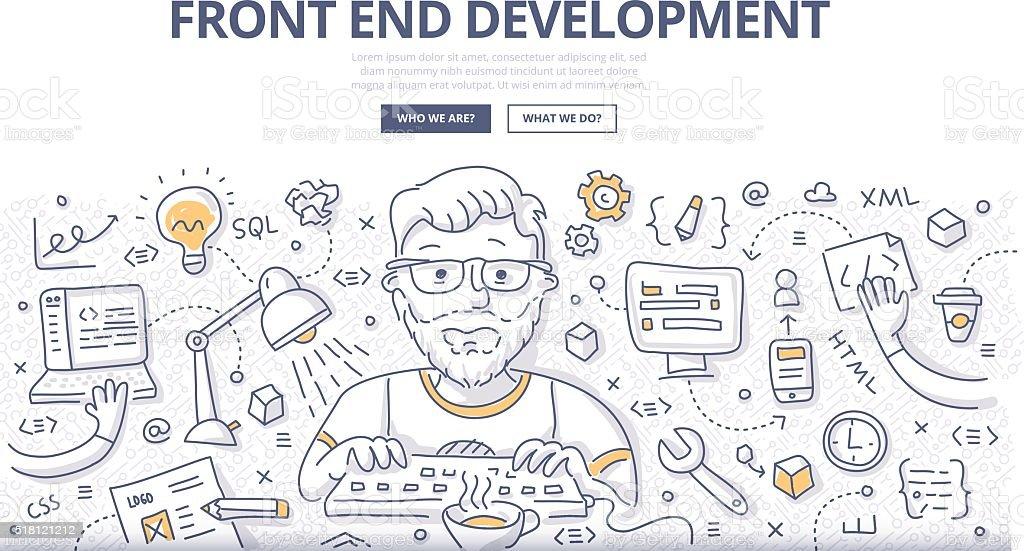 Front End Development Doodle Concept vector art illustration