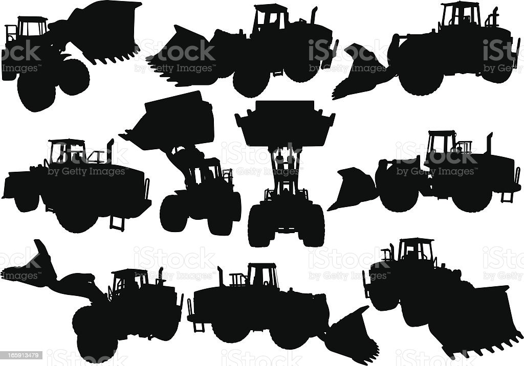 Front loader royalty-free stock vector art