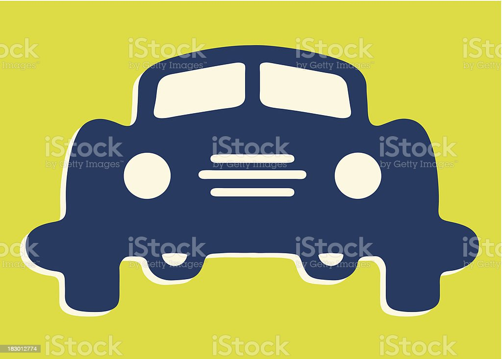 Front of Car royalty-free stock vector art