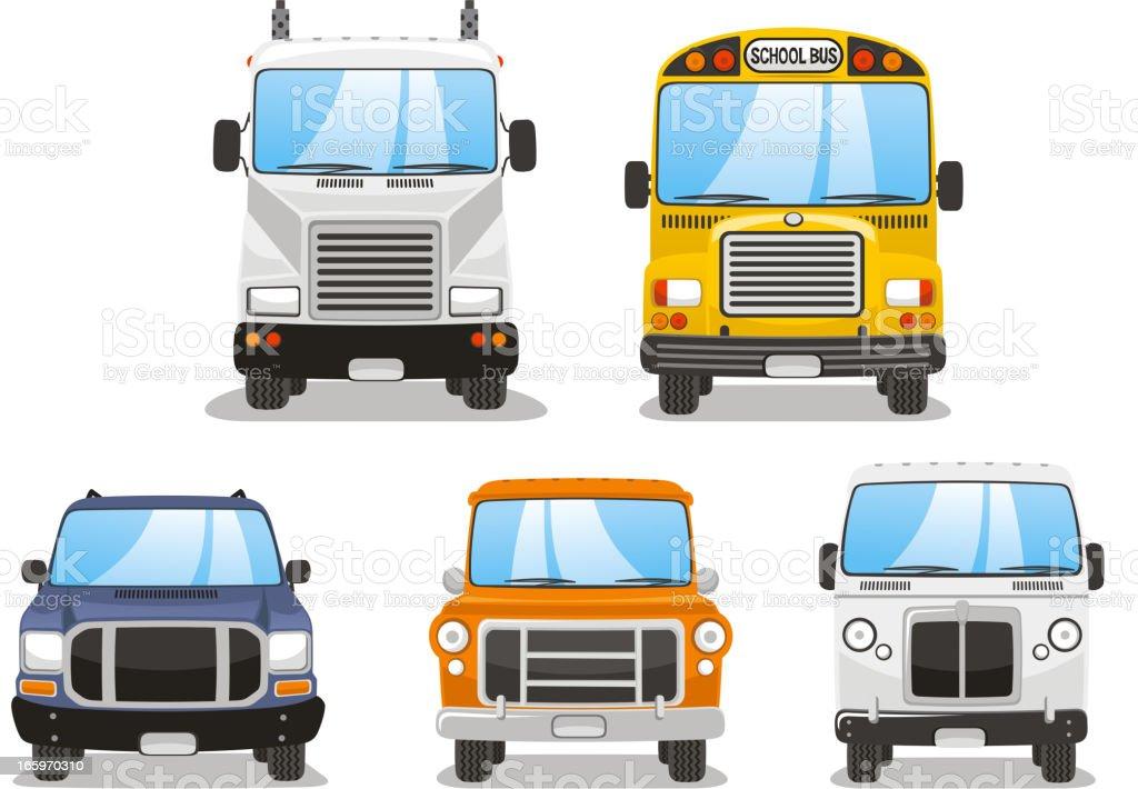Front Truck Set vector art illustration