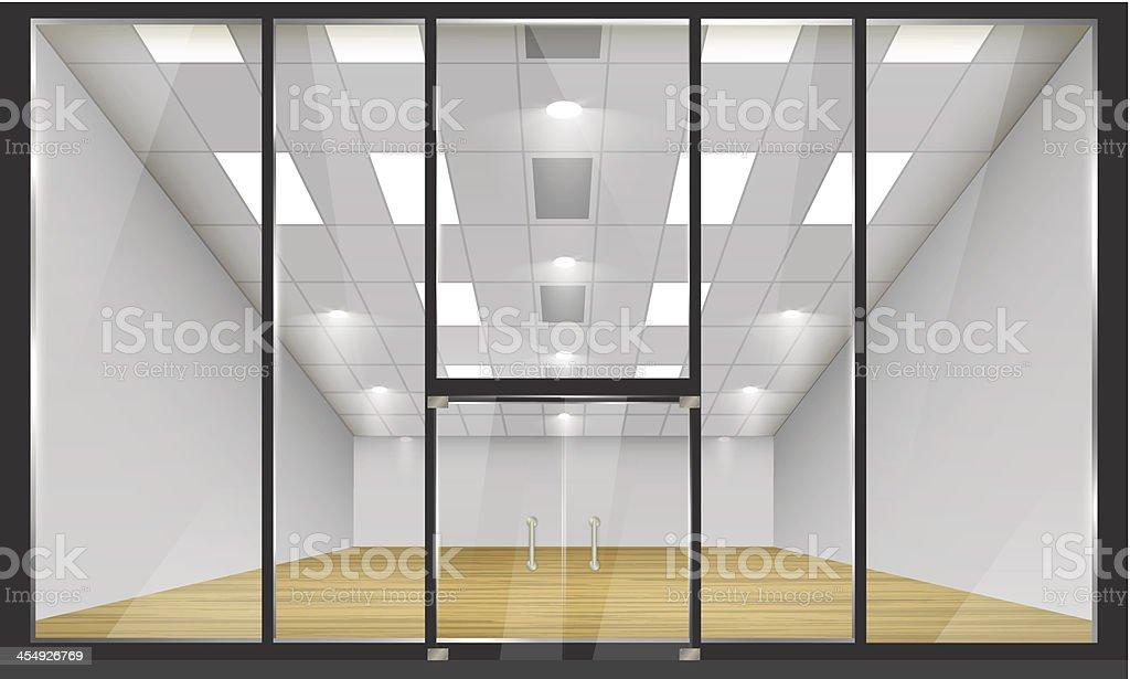Türen shop  Shop Mit Fenstern Und Türen Vorderansicht Vektor Illustration ...